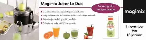 Magimix banner consumentenactie NOV Duo